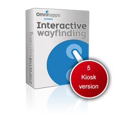 Omnitapps Way Finding package - 5 Kiosk version